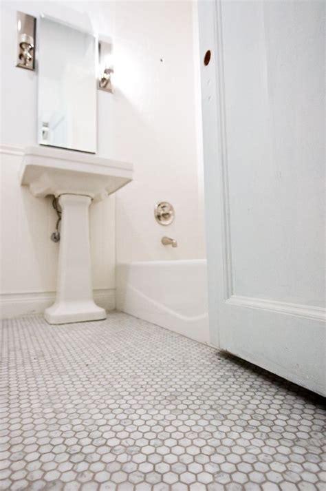Marble Hexagon Floor Tile Bathroom by Marble Hexagon Floor Tiles With Light Grey Grout Mondial