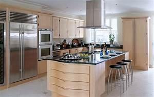 la cuisine avec ilot cuisine bien structuree et With cuisine contemporaine avec ilot