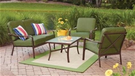patio furniture sets 300 mainstays crossman cushions walmart replacement cushions