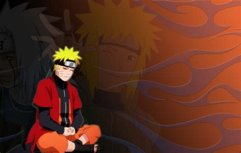 Обои Режим отшельника, Jiraiya, Naruto, Minato, плащ