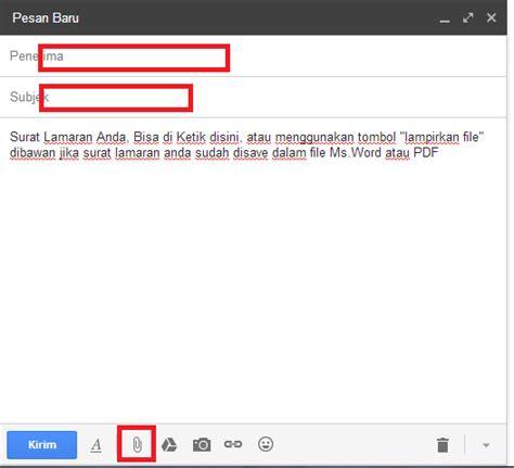 Cara Tulis Alamat Di Lop Lamaran by Cara Dan Contoh Mengirim Surat Lamaran Kerja Via Email
