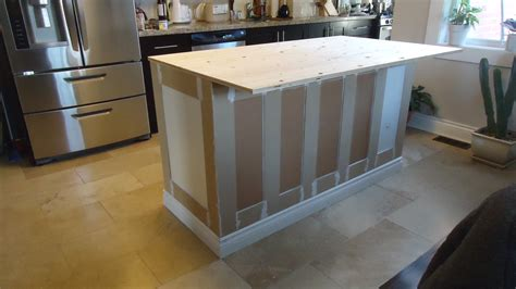 diy kitchen island from stock cabinets building a kitchen island small space style