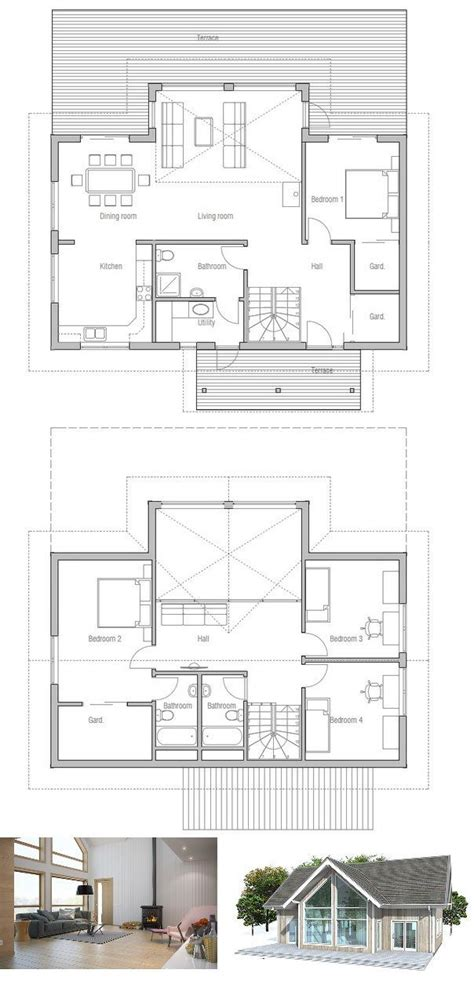 small house plan   bedrooms vaulted high ceiling