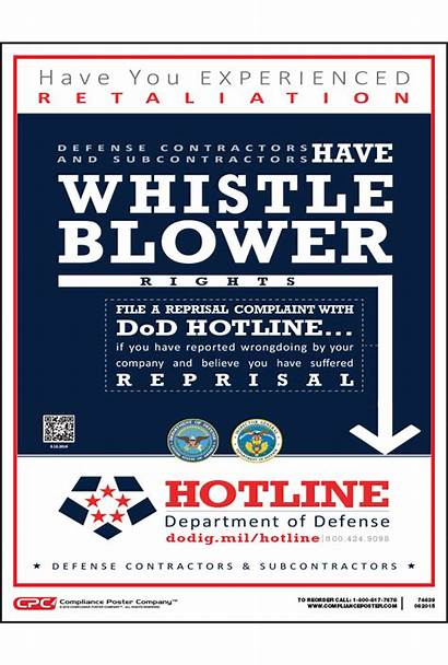 Poster Whistleblower Contractor Defense Compliance Federal Display