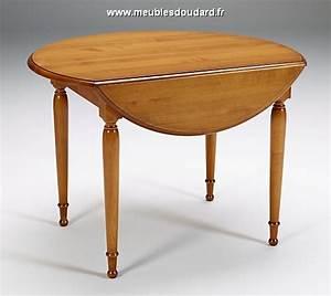 Table Ronde Rabattable : table volets merisier ~ Melissatoandfro.com Idées de Décoration