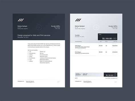 striking invoice designs  bashooka