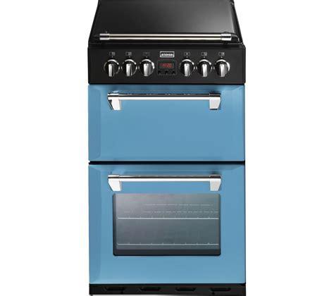 stoves dual fuel range cooker buy stoves richmond mini range 550dfw 55 cm dual fuel cooker blue black free delivery currys