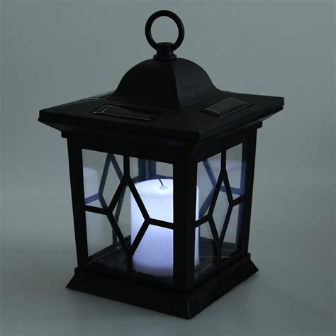 solar hanging lanterns led auto sensor outdoor candle