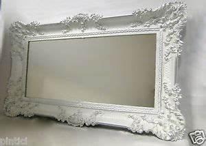 Miroir Baroque Argenté : miroir mural ancien baroque rectangulaire 97x57 de couloir blanc argent 103074 ebay ~ Teatrodelosmanantiales.com Idées de Décoration