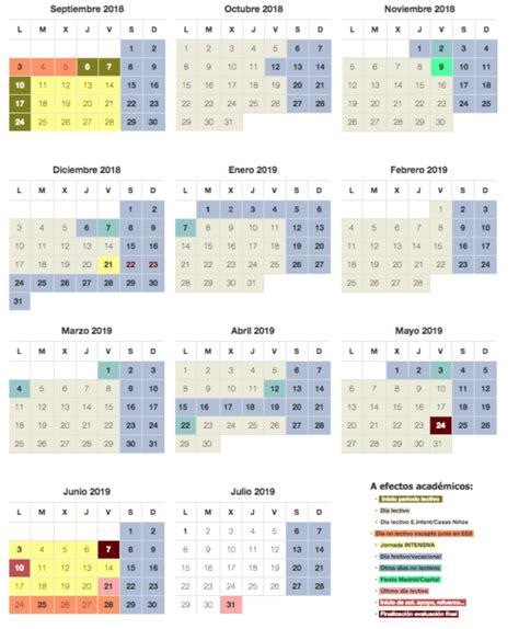calendario escolar curso en madrid cursosmasters
