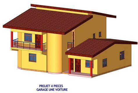 plan de maison contemporaine 4 chambres duplex 4 pièces entreprise de construction et de