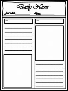Blank newspaper template for multi uses by kim cherry tpt for Free printable newspaper template for students