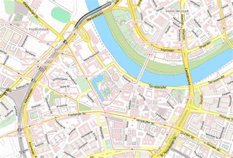 semperoper stadtplan mit luftbild und unterkuenften von dresden
