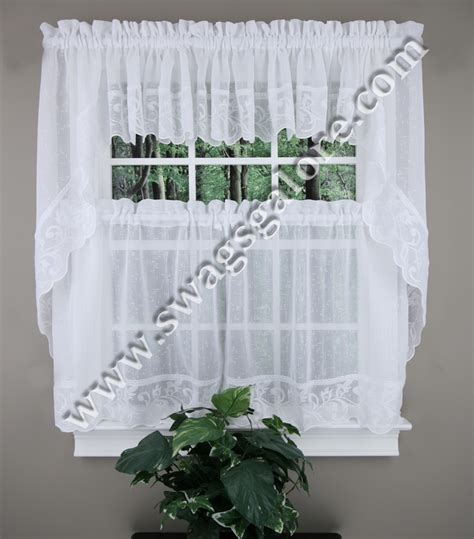 Blue Country Kitchen Curtains by Kitchen Curtain White Lorraine Country Kitchen
