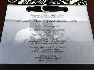 our wedding plan the invitations shes crafty With wedding invitation clear paper
