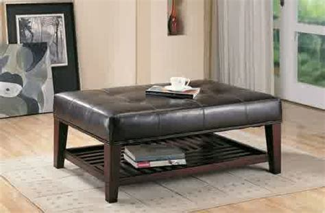 This coffee table can be in any shade you like. 2020 Latest Leather Rectangular Ottoman Coffee Table