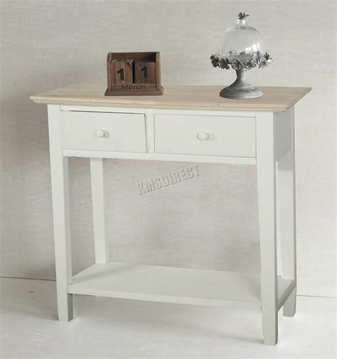 kitchen side table storage foxhunter console table 2 drawers wood hallway side 5607