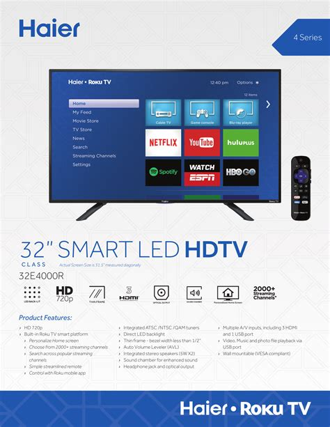 32 smart led hdtv Haier Manualzz