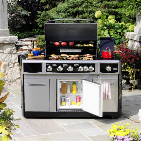 kenmore elite 4 burner gas grill with refrigerator