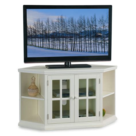 Tv Stands With Bookcases by Leick White 46 Quot Corner Tv Stand With Bookcases Shop Your