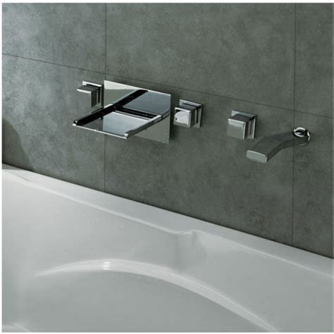 bathroom bathtub bath tub led waterfall faucet  handshower