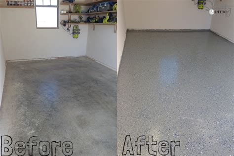 garage floor paint before and after easy garage floor coating and a giveaway shanty 2 chic
