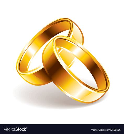 wedding rings royalty free vector image vectorstock