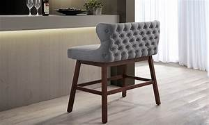 tufted fabric bar bench groupon goods With bar n bench