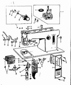 Thread Tension Assembly Diagram  U0026 Parts List For Model 158650 Kenmore