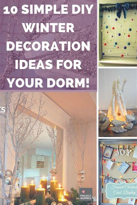 simple diy winter decoration ideas   dorm