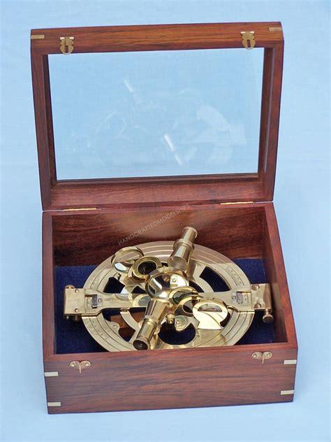 Sextant Buy by Buy Round Sextant With Rosewood Box 10 Inch Nautical