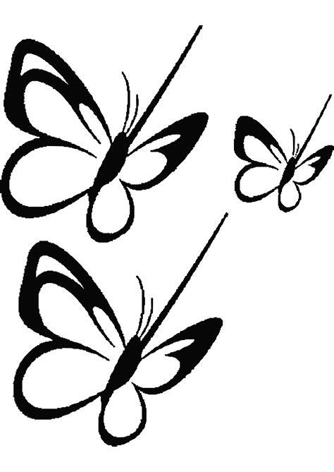 disegni da colorare su disegno di farfalla vola su un fiore da colorare disegni