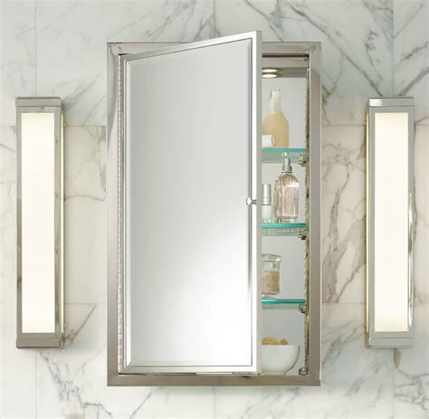 Medicine Cabinets Recessed Mirror Elegant Milforde
