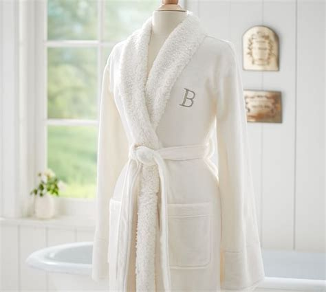 pottery barn robe cozy sherpa robe pottery barn