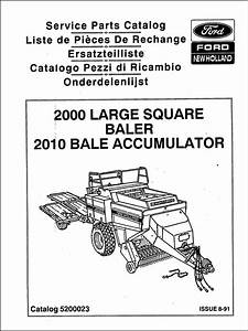 Ford New Holland 2000 Parts Manual For Service Big Baler