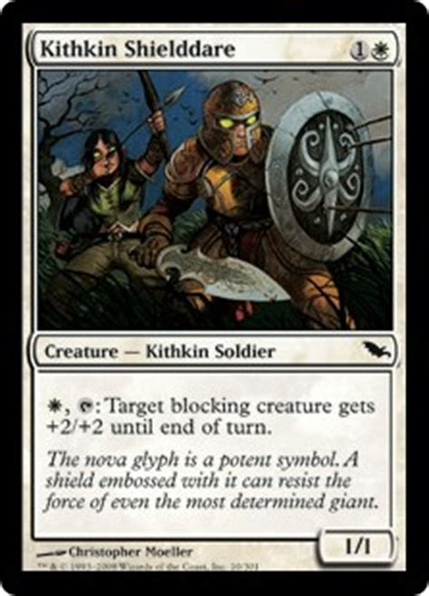Kithkin Deck Magic The Gathering by Kithkin Shielddare Shadowmoor Gatherer Magic The