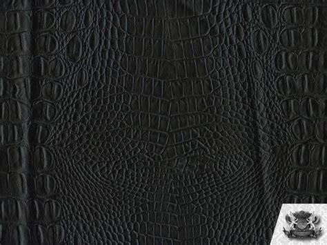 Black Vinyl Upholstery Fabric by Crocodile Vinyl Matte Black Crock Fabric Upholstery Bty Ebay