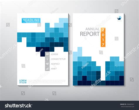 annual report cover in abstract design vector free blue annual report brochure flyer design stock vector