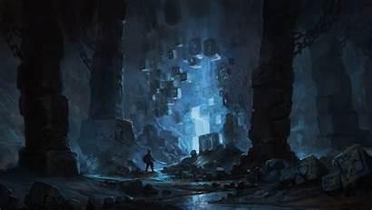 Fantasy Cave Fiction Science Wallpapers Backgrounds Desktop
