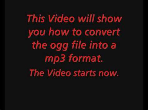convert  ogg  file   mp format youtube