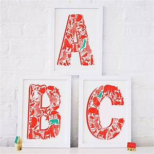 animal alphabet set of three letters by lucy loves this With screen printing letters
