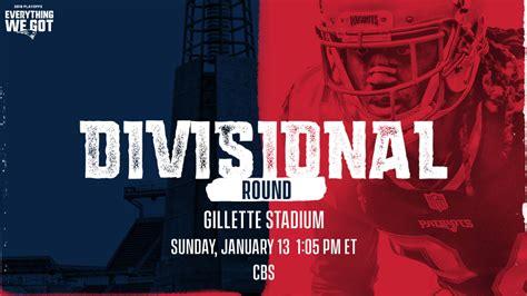 patriots playoff game details