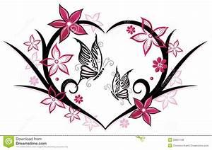 Herz Mit Blumen : herz schmetterlinge blumen vektor abbildung illustration von bl ht bunt 33651148 ~ Frokenaadalensverden.com Haus und Dekorationen