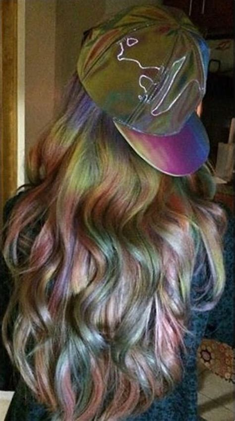 oil slick hair color trend popsugar beauty