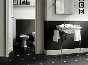 black white bathroom tiles 2017 grasscloth wallpaper With black and white tile bathroom decorating ideas