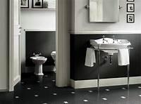black and white bathroom decor black white bathroom tiles 2017 - Grasscloth Wallpaper