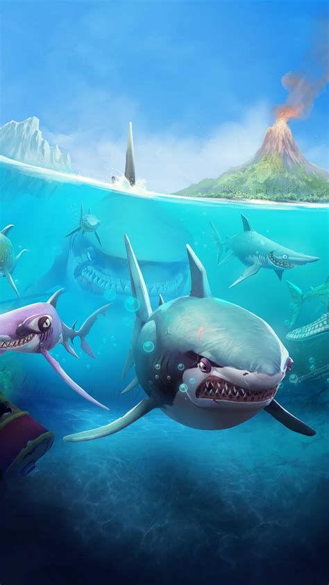 wallpaper hungry shark world ios android shark games
