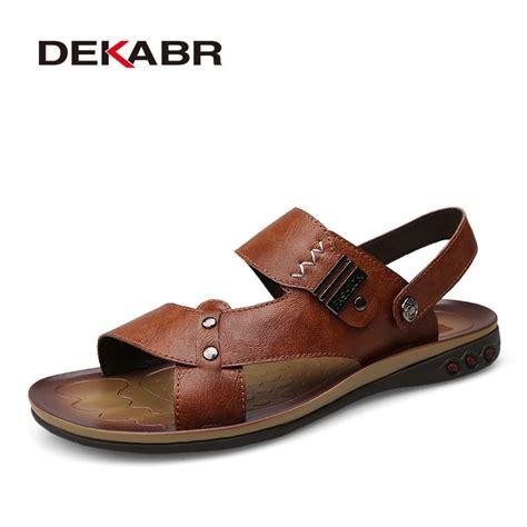Dekabr Men Summer Sandals Genuine Leather Comfortable