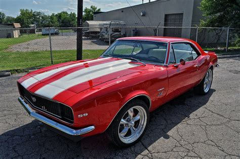 modded muscle cars 1967 chevrolet camaro 427 ss rs 530hp resto mod muscle car