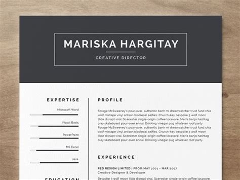 12 free and impressive cv resume templates in ms word
